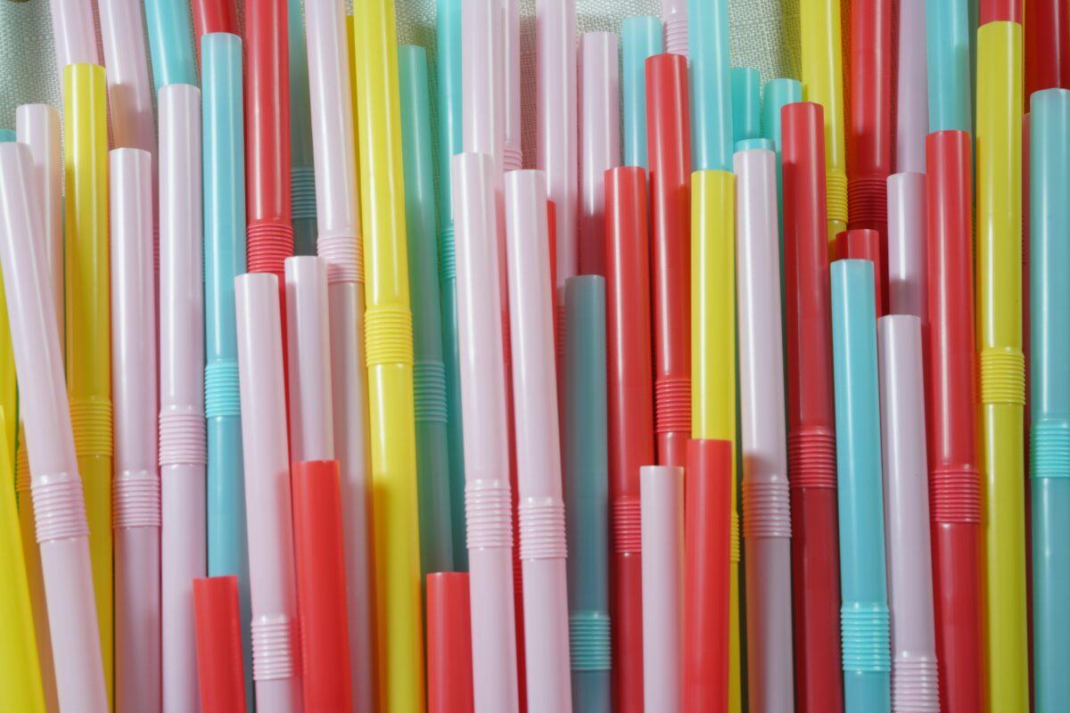 Einweg Plastik Trinkhalm